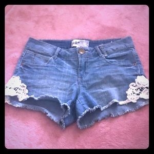 Low Rise cut off shorts